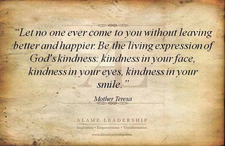 Quote About Kindness Adorable Inspiring Quote On Giving And Kindness  Alame Leadership