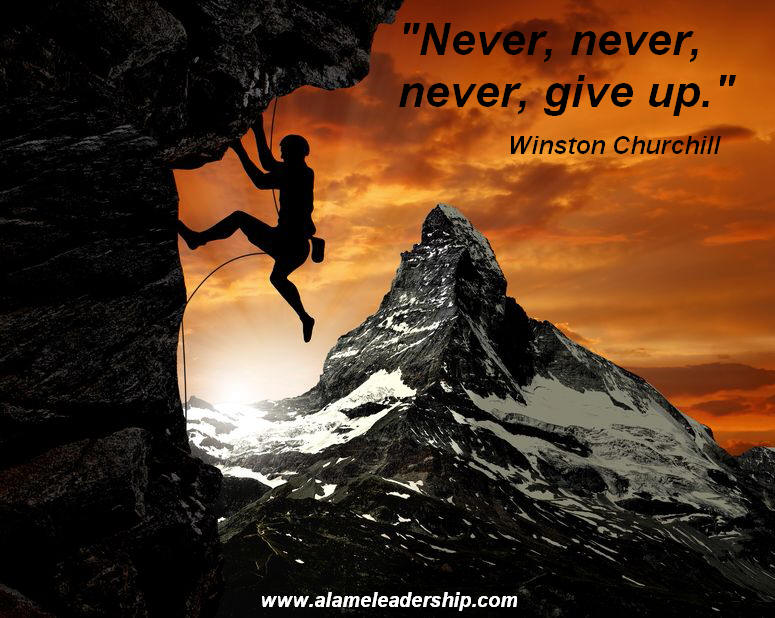 AL Inspiring Quote on Never Giving Up