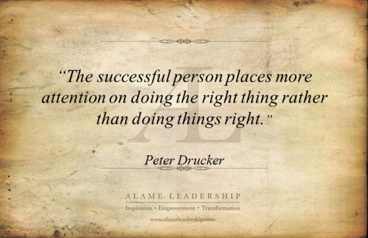 leadership is doing the right things The book leadership ethics: is doing the right thing good enough was written by dr lamar odom a professor of business and leadership, attorney and leadership consultant.
