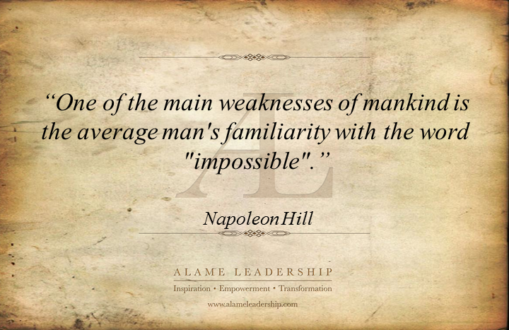 AL Inpiring Quote on The Word Impossible