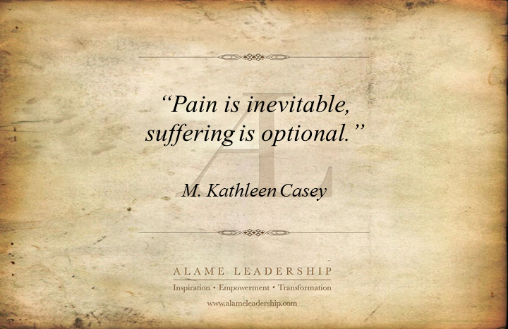 AL Inspiring Quote On Pain Vs Sufferance