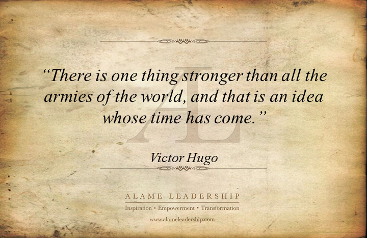 The Power Of One Quotes: AL Inspiring Quote On The Power Of One Idea To Change