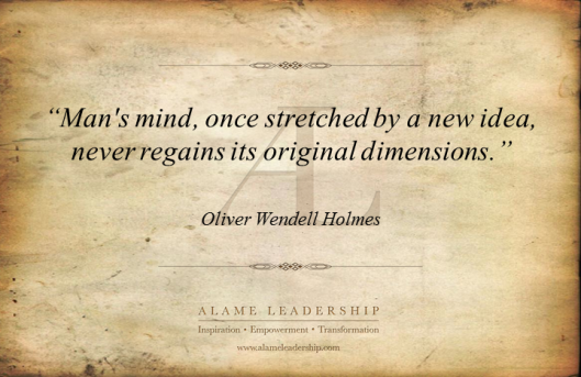 AL Inspiring Quote on The Power of an Idea
