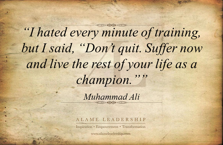 al inspiring quote on the power of discipline alame