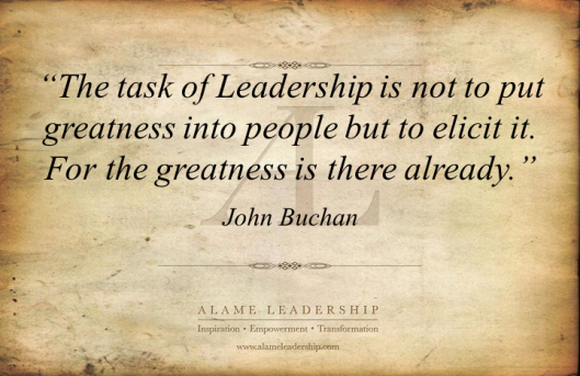 AL Inspiring Quote on Leading People