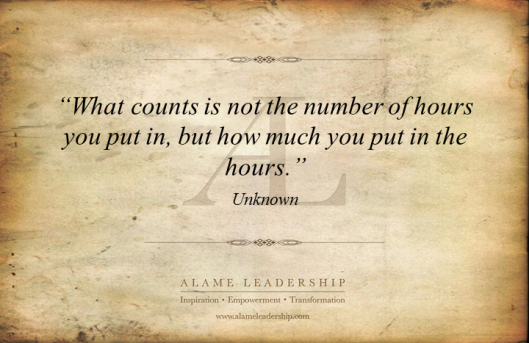 AL Inspiring Quote on Effort