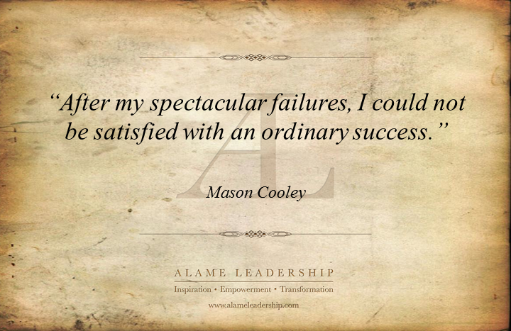 al inspiring quote on success after failing alame