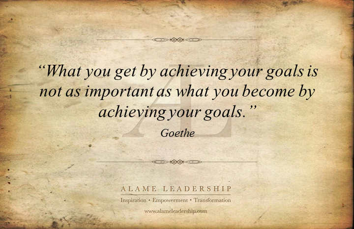 al inspiring quote on goals alame leadership