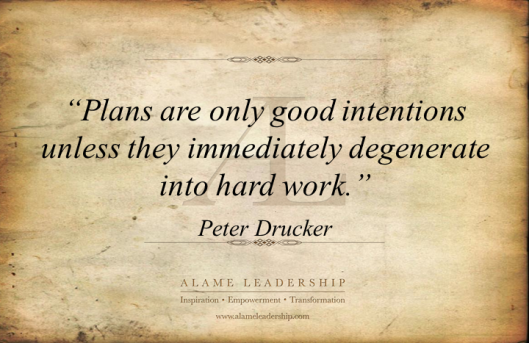 AL Inspiring Quote on Planning and Execution