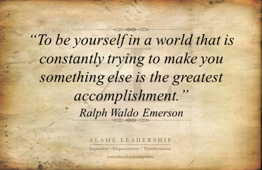 AL Inspiring Quote on Being Oneself
