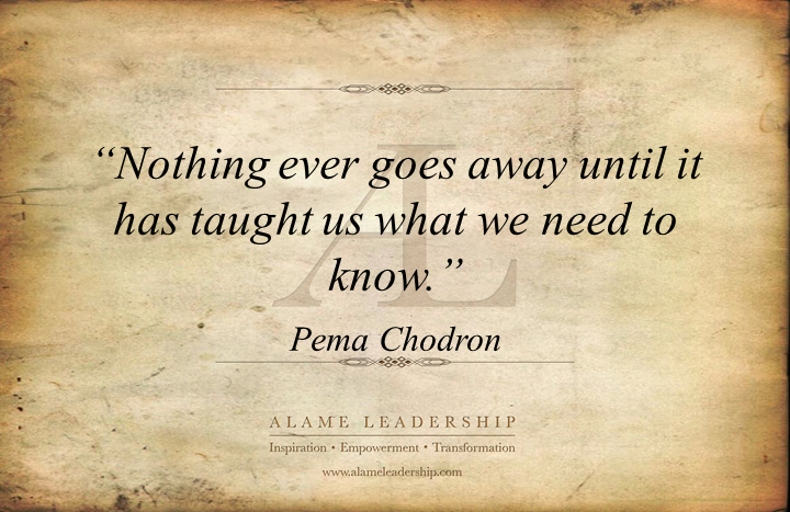 AL Inspiring Quote on Challenges as Lessons | Alame Leadership ...