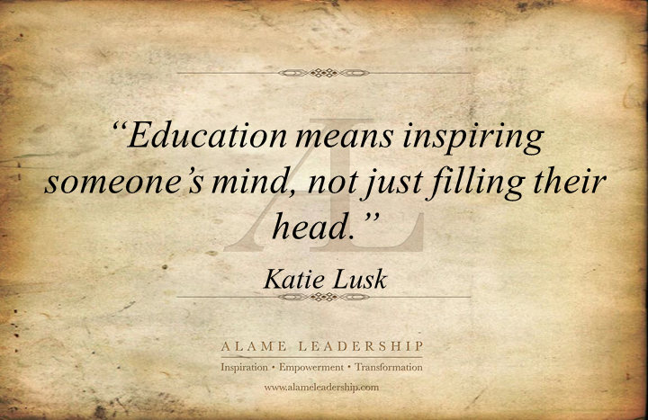 al inspiring quote on education alame leadership