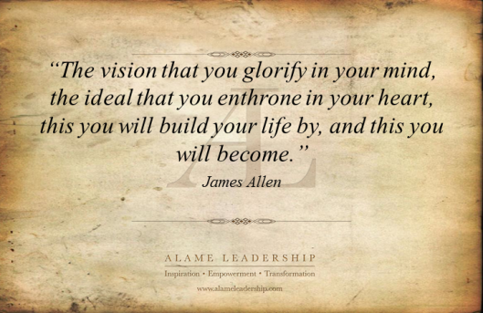 AL Inspiring Quote on The Power of Personal Vision