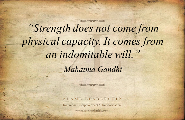 al inspiring quote on inner strength alame leadership