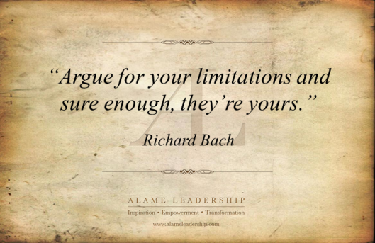 AL Inspiring Quote on  Self Imposed Limitation