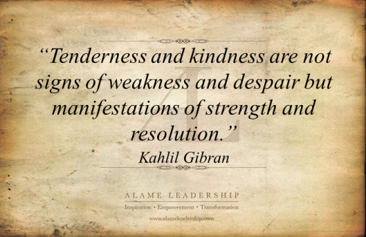 AL Inspiring Quote on Kindness as Strength