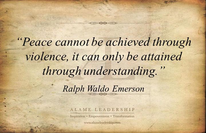 Elegant AL Inspiring Quote On Peace