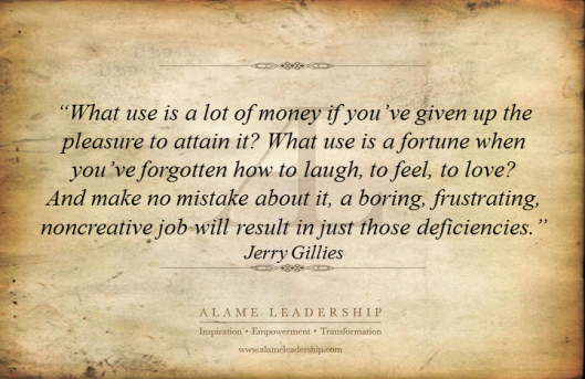 AL Inspiring Quote on Work with Passion