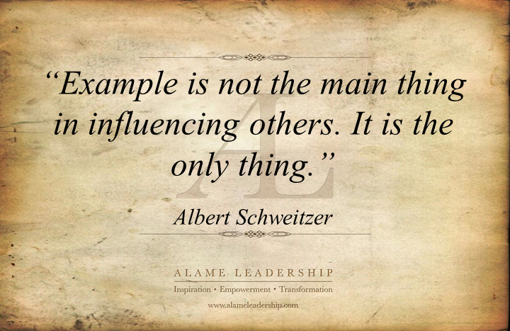 Role Model Quotes Albert Schweitzer Quotes' Week Quote 1 Leadingexample