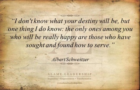 AL Inspiring Quote on Serving Others 1