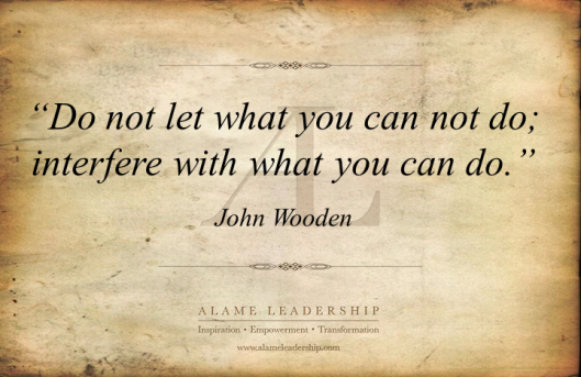 AL Inspiring Quote on Focusing on What We Can Do