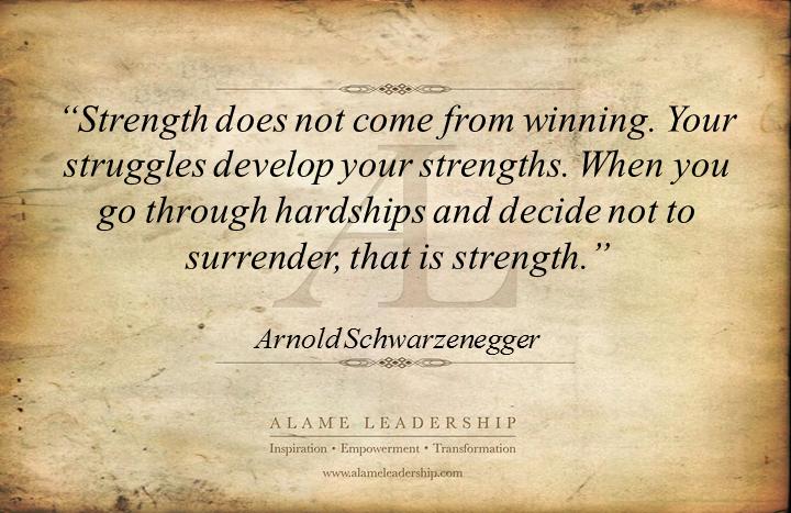 arnold s week al inspiring quote on inner strength