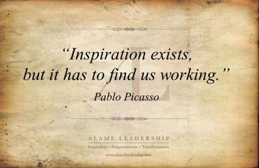 AL Inspiring Quote on Inspiration