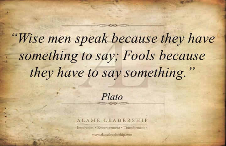 AL Inspiring Quote on Being Wise | Alame Leadership ...