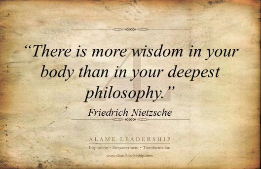 AL Inspiring Quote on Body Wisdom