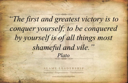 AL Inspiring Quote on Conquering Oneself