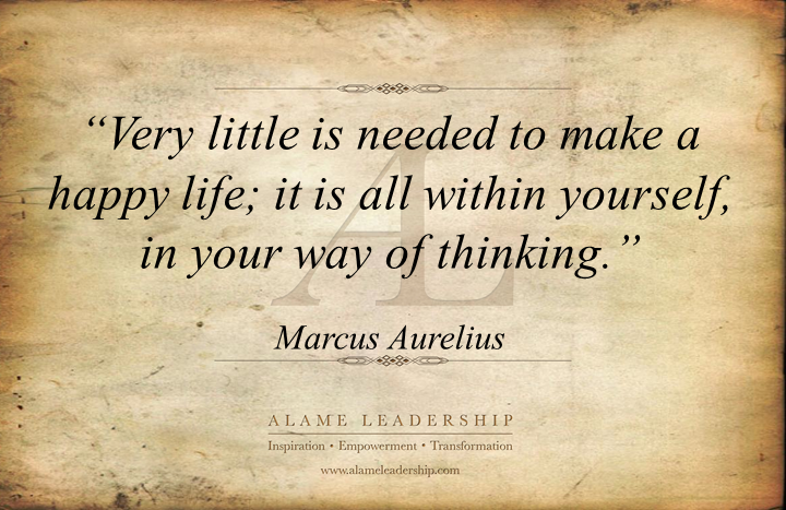 al inspirig quote on happiness alame leadership