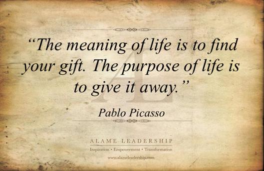 al inspiring quote on purpose of life alame leadership