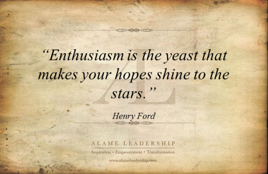 AL Inspiring Quote on Enthusiasm
