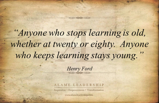 AL Inspiring Quote on Learning
