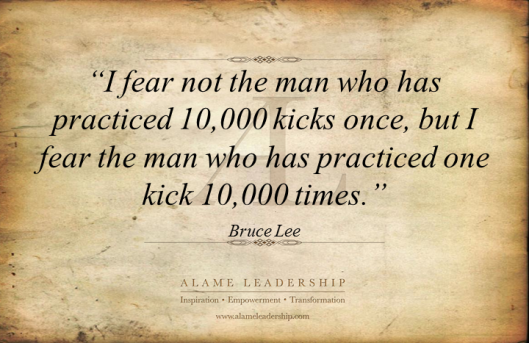 AL Inspiring Quote on Mastery