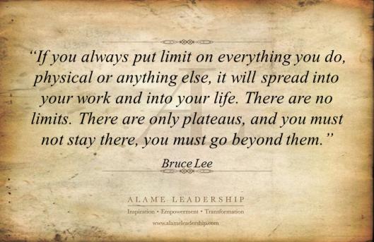 AL Inspiring Quote on No Limits