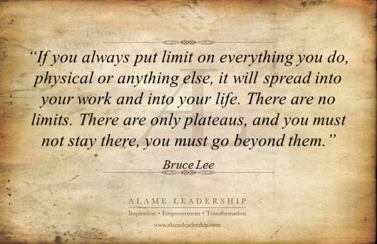 AL Inspiring Quote on No Limits