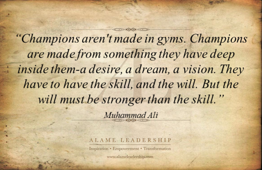 AL Inspiring Quote on Power of Desire and Vision