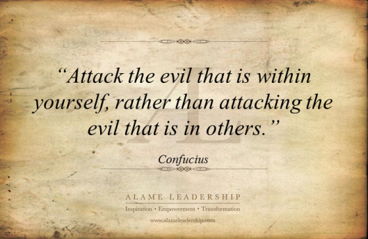 AL Inspiring Quote on Facing our Own Evil