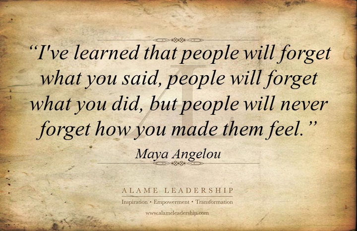 Leadership quotes by maya angelou