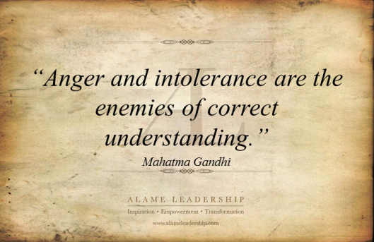 AL Inspiring Quote on Intolerance and Anger