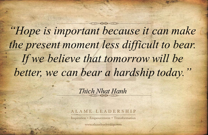 al inspiring quote on hope alame leadership