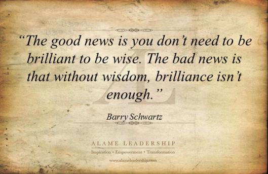 AL Inspiring Quote on Wisdom