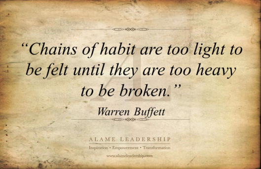 AL Inspiring Quote on Habits