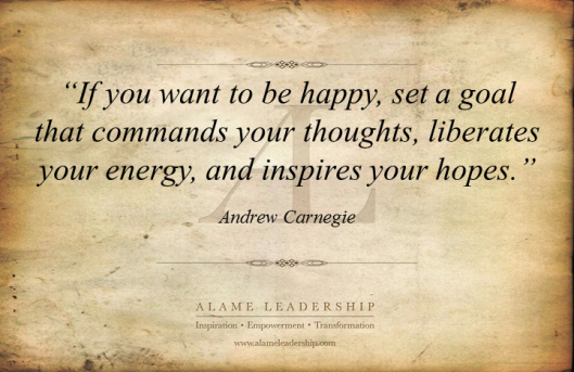 AL Inspiring Quote on Happiness and Goals