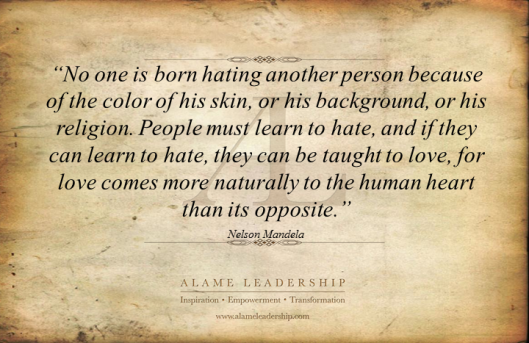 AL Inspiring Quote on Love Vs Hate