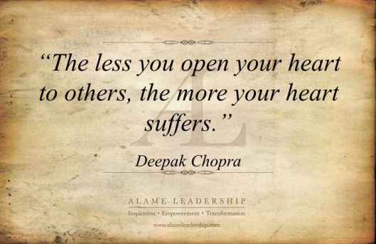 AL Inspiring Quote on Opening to Others