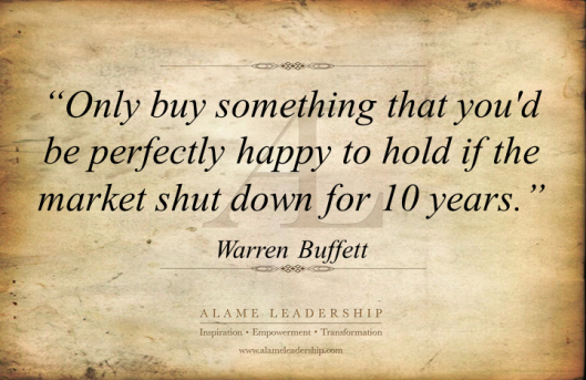 AL Inspiring Quote on Investment