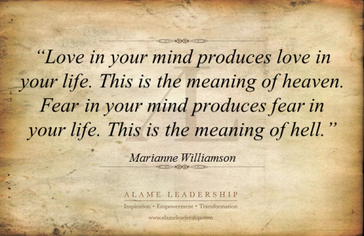 AL Inspiring Quote on Love Vs Fear