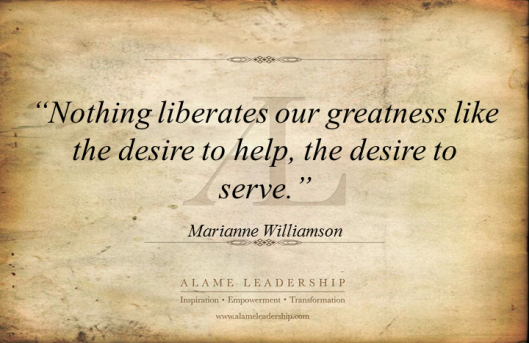 AL Inspiring Quote on Serving others 2